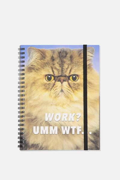 A5 Spinout Notebook - 120 Pages, WORK UMM!!