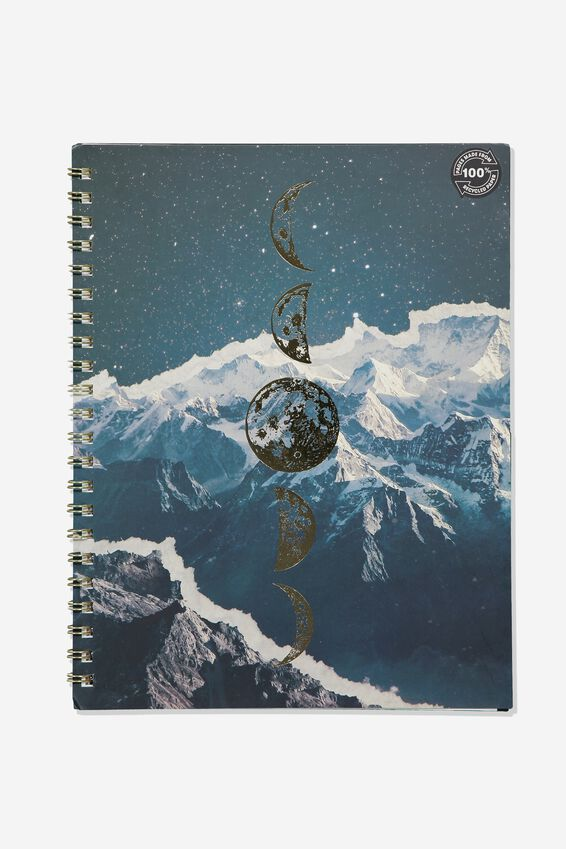 A4 Campus Notebook Recycled, MOON PHASES