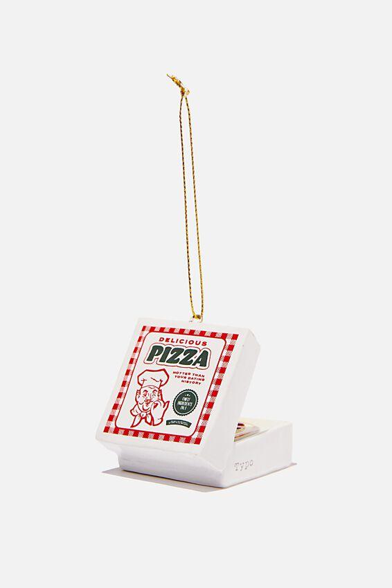 Resin Christmas Ornament, PIZZA BOX