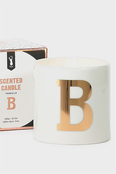 Ceramic Jar Candle, ROSE GOLD B