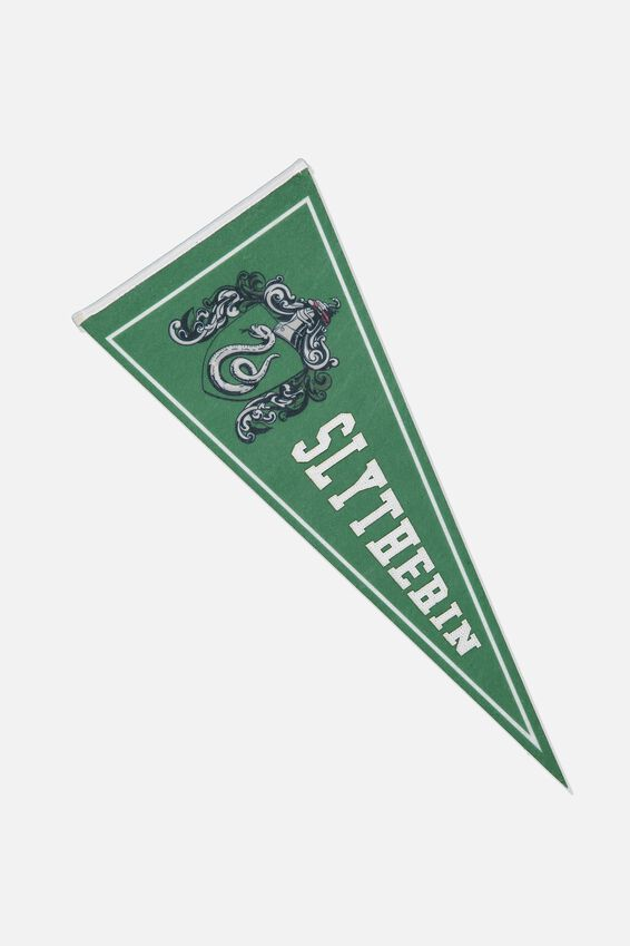 Harry Potter Pennant Wall Flag, LCN WB HP SLYTHERIN