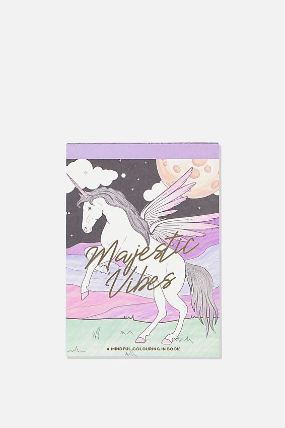 Post Card Colouring Book, BOHO MAGIC
