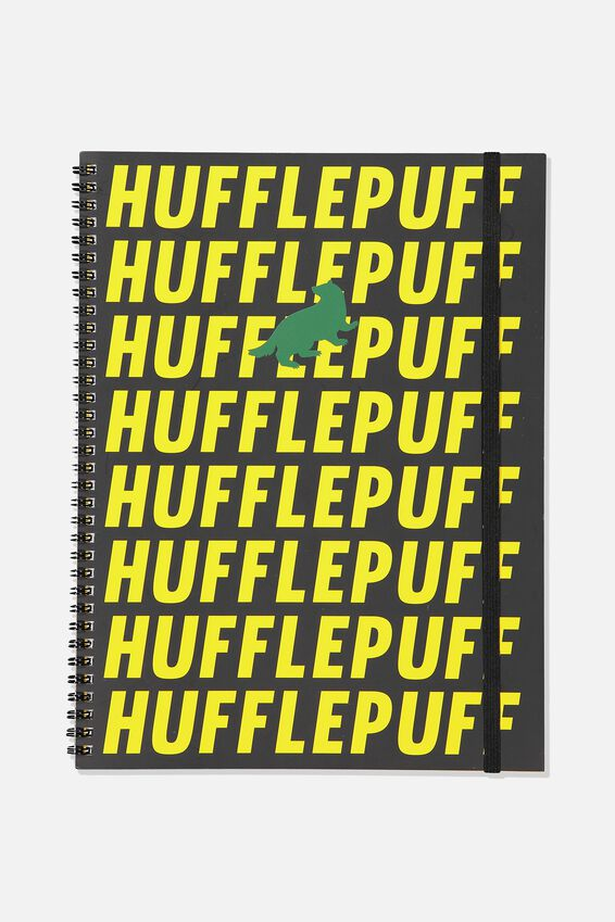 Harry Potter A4 Spinout Notebook - 120 Pages, LCN WB HP HUFFLEPUFF