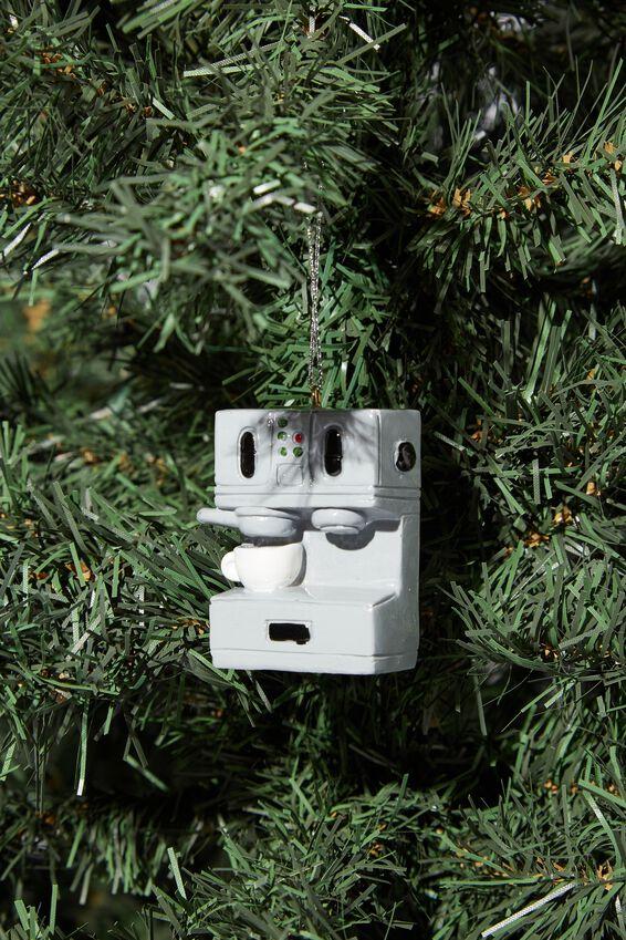 Resin Christmas Ornament, COFFEE MACHINE