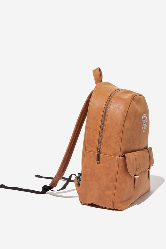 Scholar Backpack, LCN WB MID TAN HOGWARTS EMBLEM