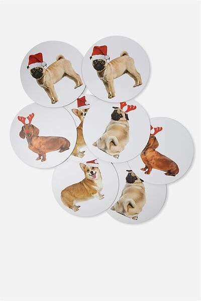 Placemat 8 Pack, CHRISTMAS DOGGOS
