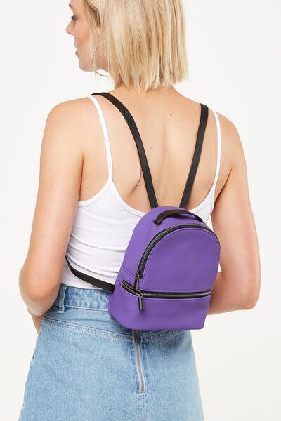 Mini Fashion Backpack, PURPLE