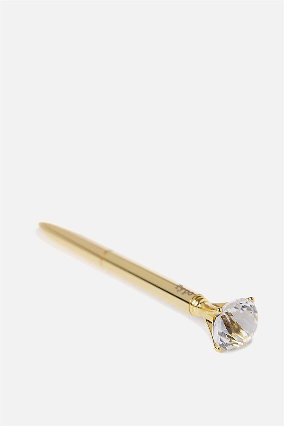 Diamond Ballpoint Pen, SOFT GOLD