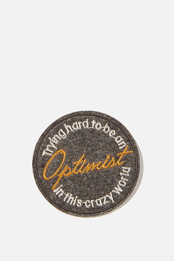Fabric Badge, OPTIMIST