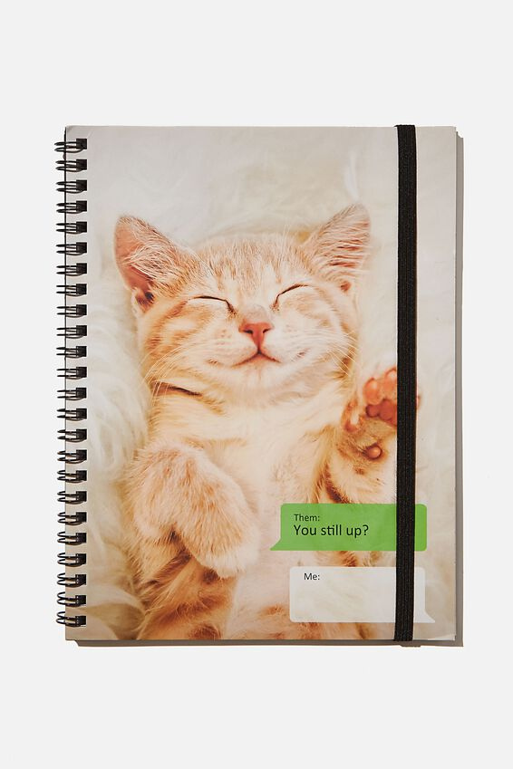 A5 Spinout Notebook Recycled, CAT MEME
