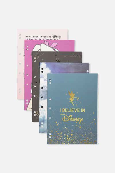 Work It Out Notebook pk 5, LCN DISNEY PRINCESS