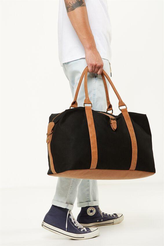 Neo Weekender Duffel Bag, BLACK & TAN