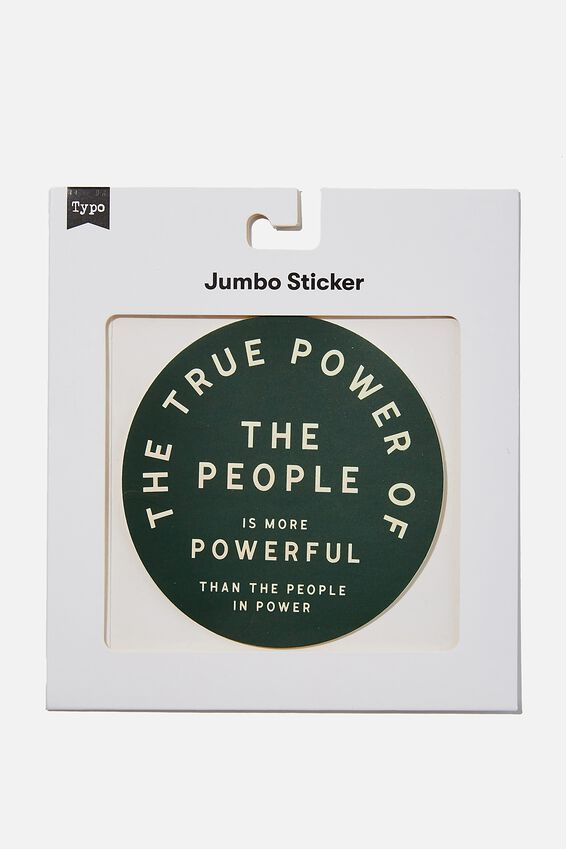 Jumbo Sticker, POWER OF THE PEOPLE