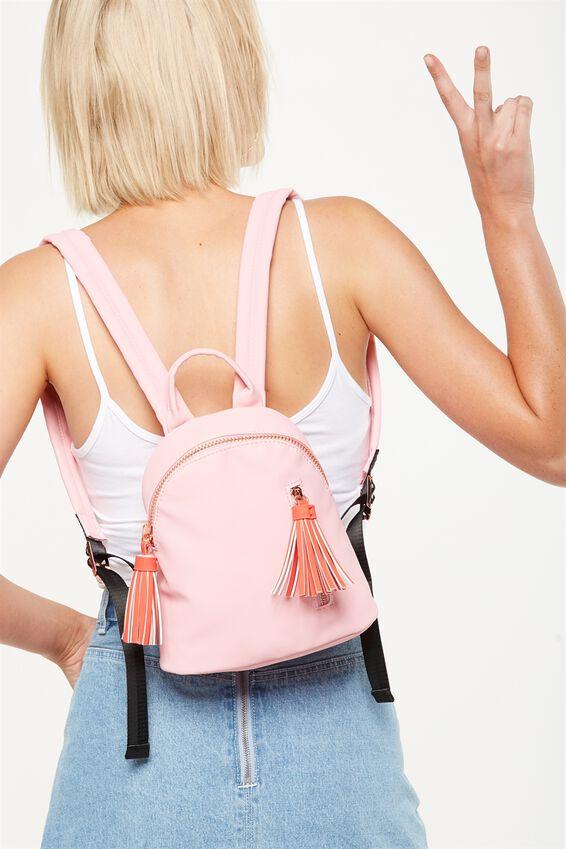 Santa Fe Backpack, PINK & RED
