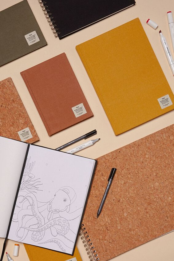 A5 Sketch Notebook, MUSTARD