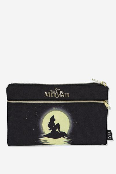 Archer Pencil Case, LCN DIS LITTLE MERMAID SILHOUETTE