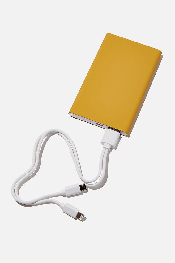 Charge It Power Bank, MUSTARD