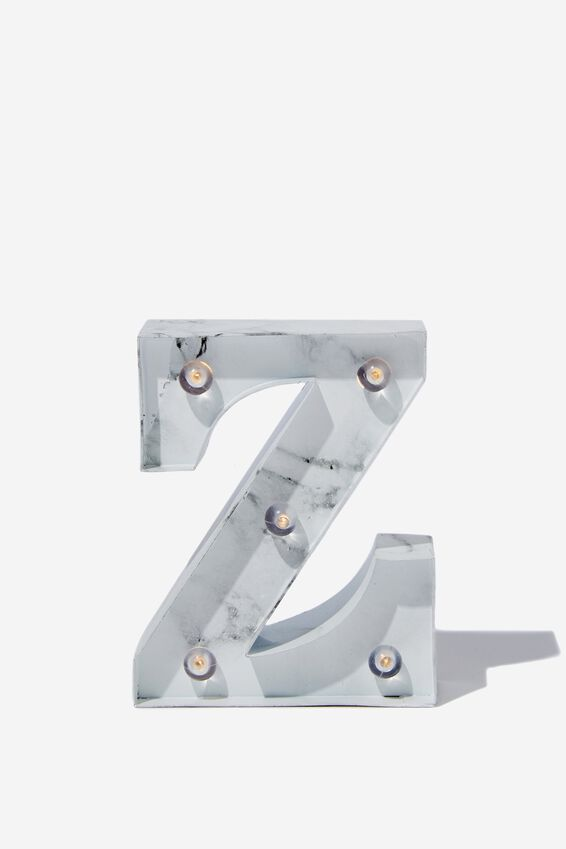 Mini Marquee Letter Lights 10cm, MARBLE Z