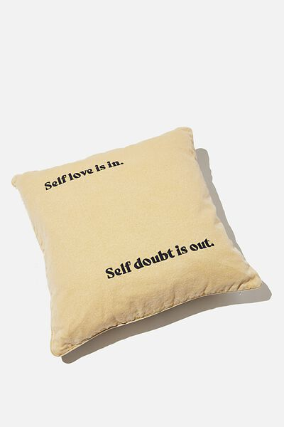 Square Cushion, ZEBRA SELF LOVE