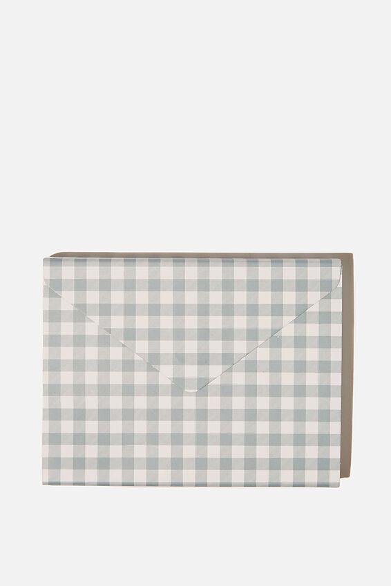 Pocket Sticky Note Set, GINGHAM HYACINTH