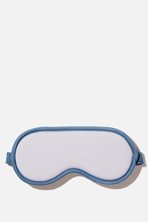 Premium Sleep Eye Mask, GREY NEUTRAL STRIPES