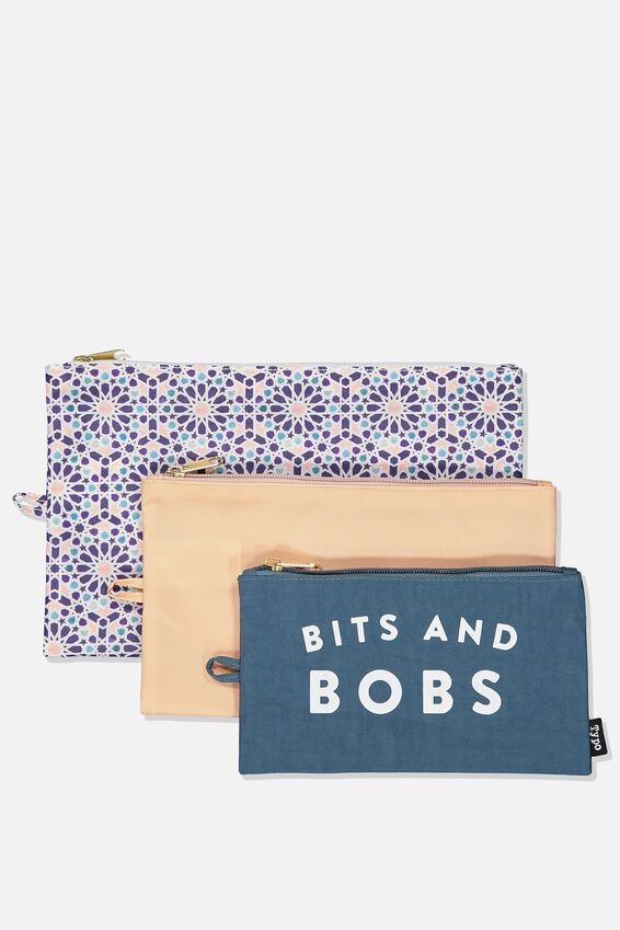 3Pc Travel Bag Set, BITS N BOBS