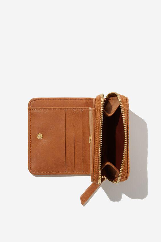 Mini Wallet, MID TAN TOOL