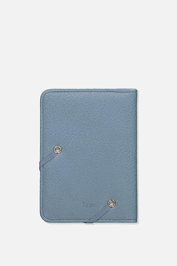 Rfid Passport Holder, PETROL BLUE MIX
