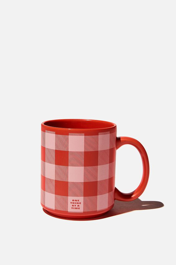 Daily Mug, RED GINGHAM