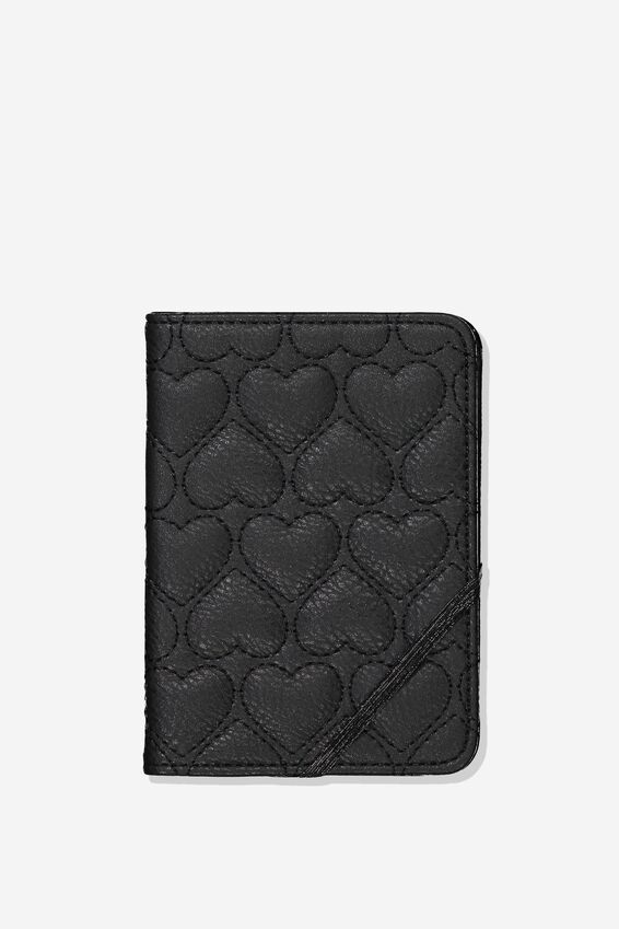 Passport Holder, QUILTED HEART
