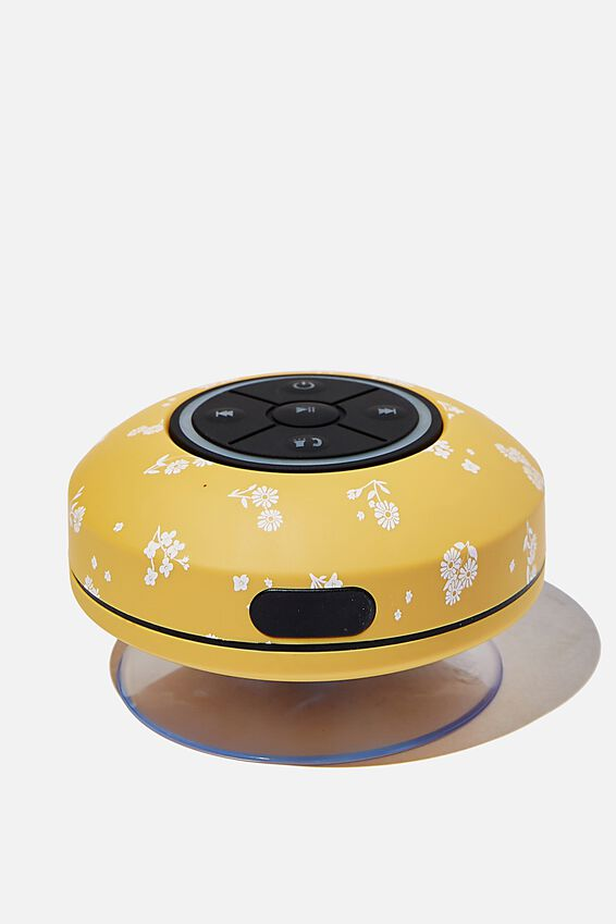 Wireless Led Shower Speaker, DOTTIE FLORAL MUSTARD 2.0