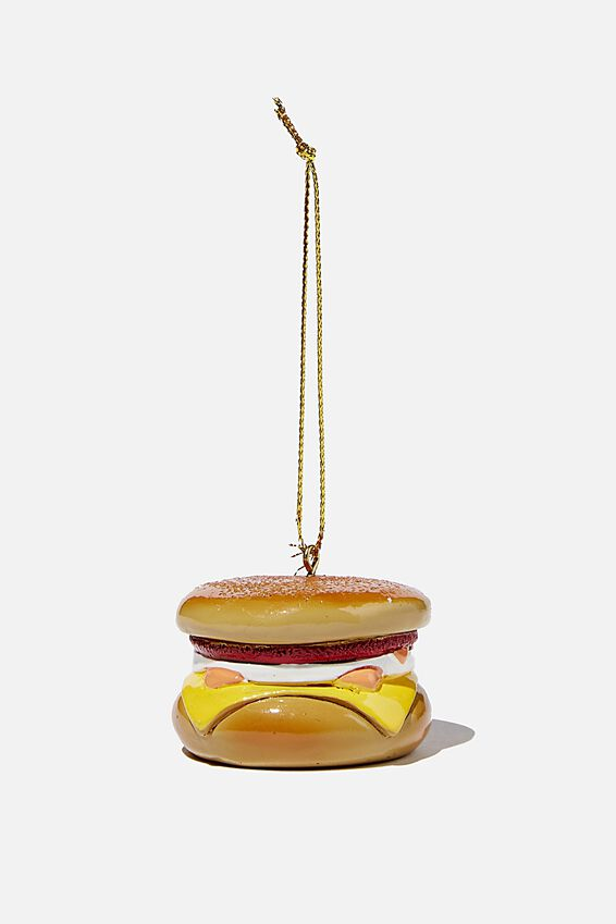 Resin Christmas Ornament, BACON & EGG MUFFIN