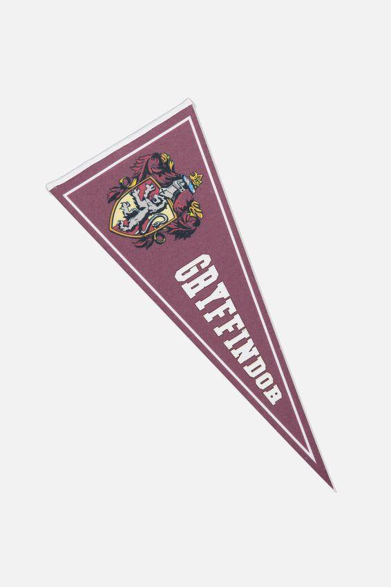 Pennant Wall Flag, LCN WB HP GRYFFINDOR