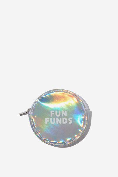 Fashion Coin Purse, CIRCLE BLACK STARS