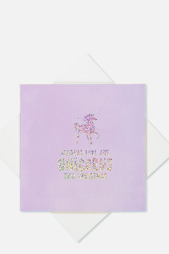 2018 Mini Christmas Card, LOVE & UNICORNS