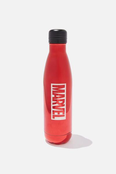 Premium Metal Drink Bottle, LCN MARVEL ENGRAVED
