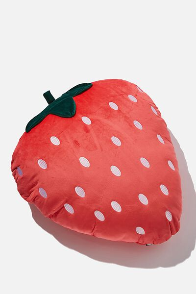 Large Get Cushy Cushion, STRAWBERRY