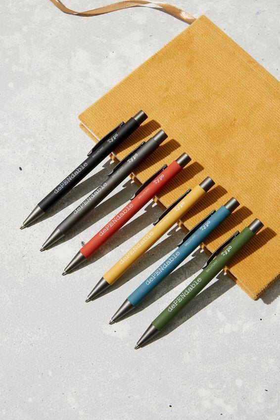 Dependable Ballpoint Pen, MUSTARD