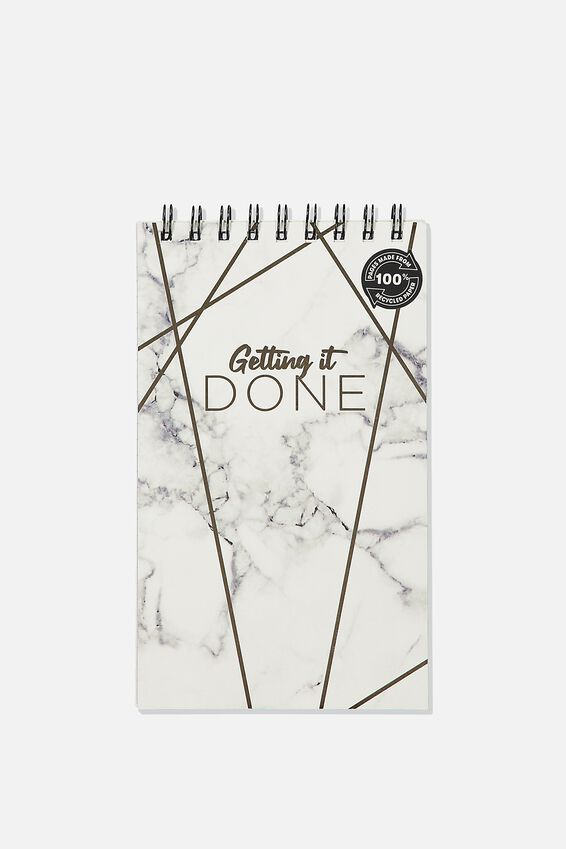 Flipout Notepad Recycled, GET IT DONE MARBLE