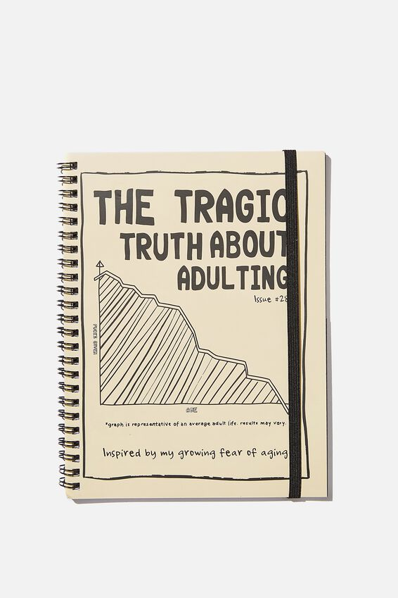 A5 Spinout Notebook Recycled, THE TRAGIC TRUTH