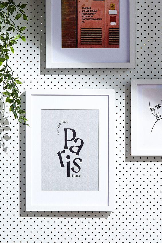 A4 Framed Print, PARIS