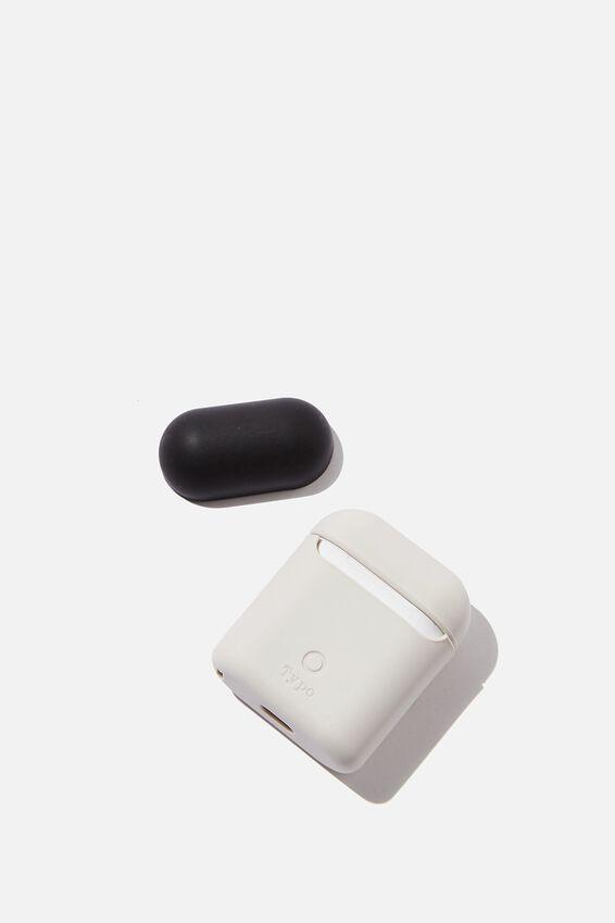 Ear Pod Sleeve, WARM GREY & BLACK