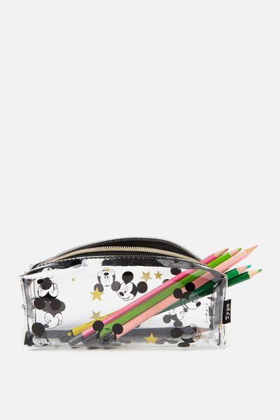 Clear Bailey Pencil Case, LCN MICKEY