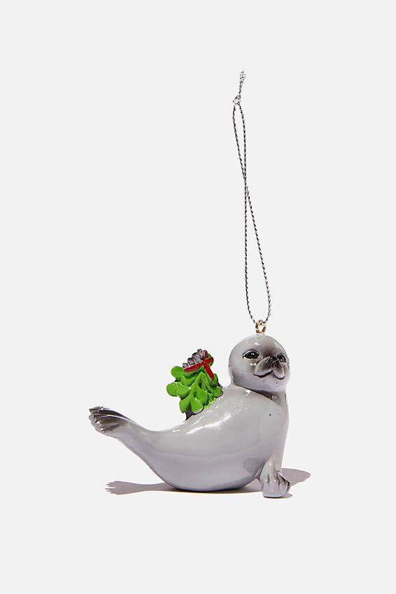 Resin Christmas Ornament, MISTLETOE SEAL