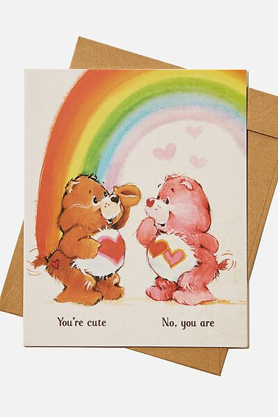 Love Card, LCN CLC CARE BEARS YOURE CUTE