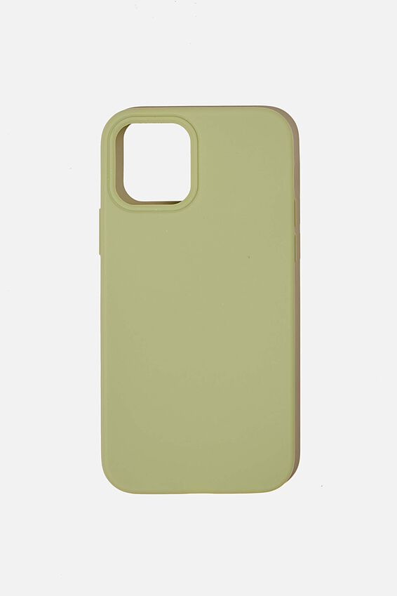 Slimline Recycled Phone Case Iphone 12, 12 Pro, ALLY GREEN