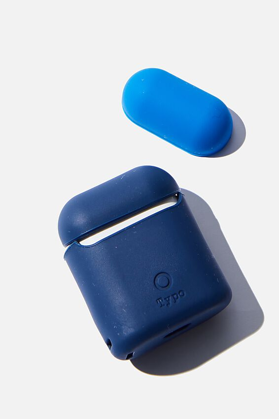 Ear Bud Sleeve, NAVY & TRUE BLUE