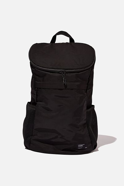 Utility Recycled Backpack, BLACK AND GREY