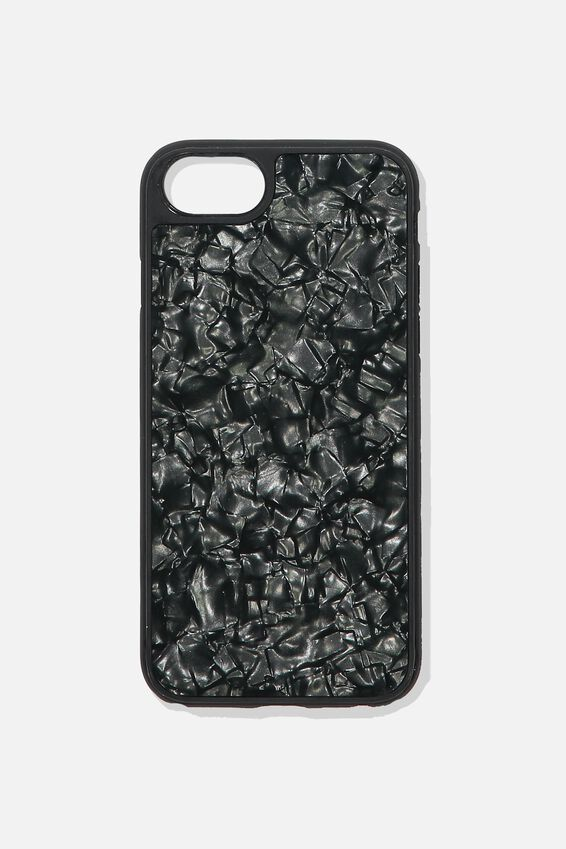 Snap On Protective Phone Case SE, 6, 7, 8, BLACK PEARL
