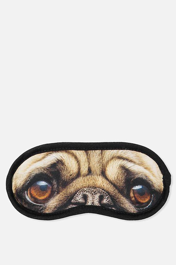Easy On The Eye Sleep Mask, CUTE PUG FACE
